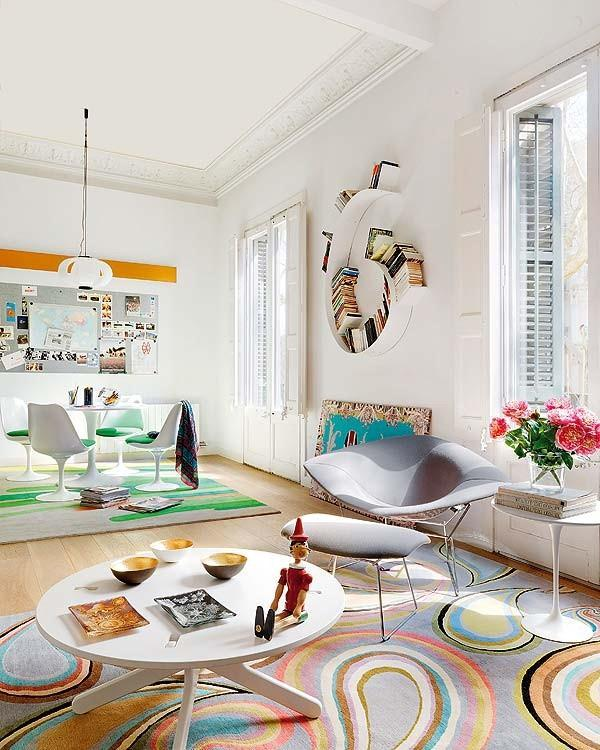 Artistic Apartment with colorful living room Design Inspiration