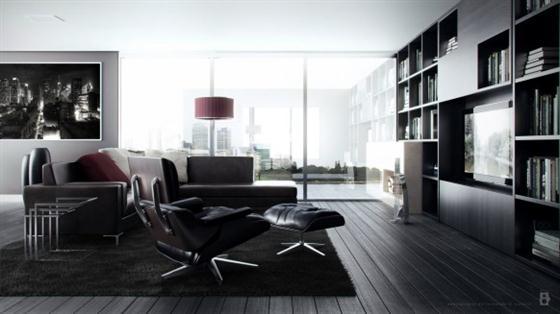 Artistic and Intellectual Living Rooms Concept by ferdaviola