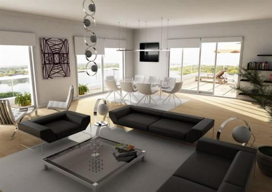 Artistic and Intellectual Penthouse Living Rooms