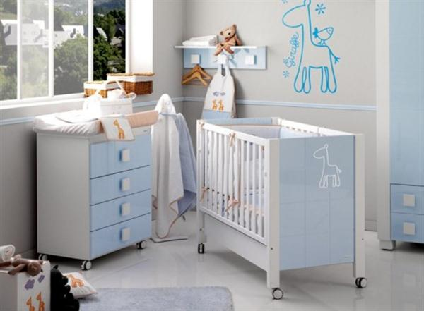 Attractive Babies Room Furniture Design with Lovely Giraffe Themes blue