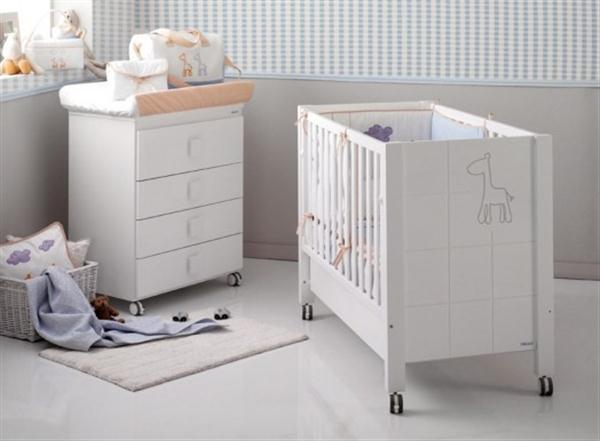 Attractive Babies Room Furniture Design with Lovely Giraffe Themes white