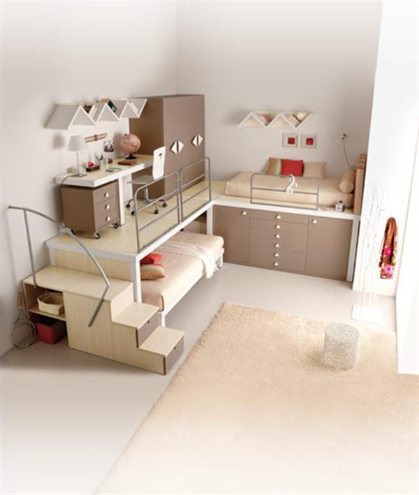 Attractive Italian Loft Bedrooms for Teens beige