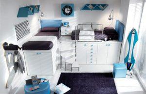 Attractive Italian Loft Bedrooms for Teens blue
