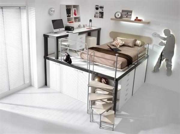 Attractive Italian Loft Bedrooms for Teens brown