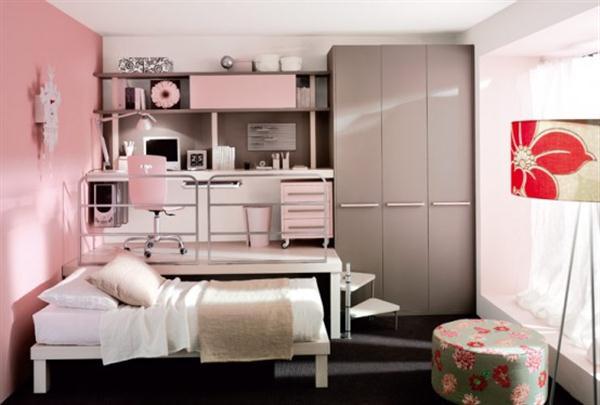Attractive Italian Loft Bedrooms for Teens pink
