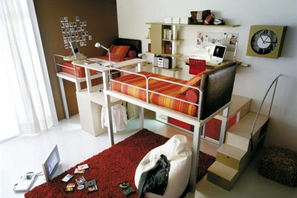 Attractive Italian Loft Bedrooms for Teens