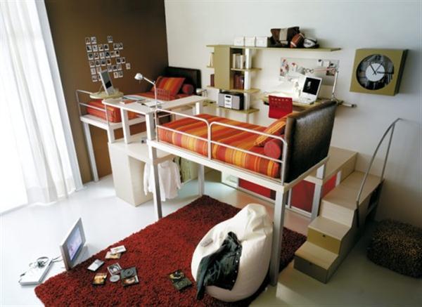 Attractive Italian Loft Bedrooms for Teens