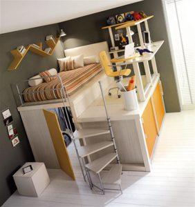 Attractive Italian Loft Bedrooms for Teens soft yellow