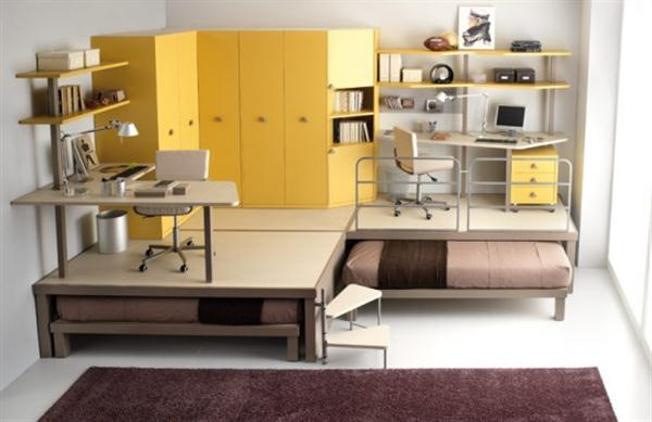 Attractive Italian Loft Bedrooms for Teens yellow