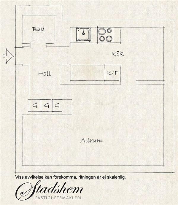 Attractive Remodeled Swedish Apartment Design siteplan