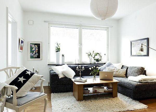 Attractive Remodeled Swedish Apartment living room design ideas