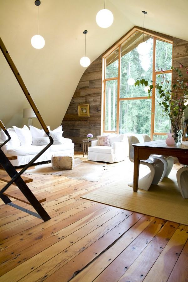 Attractive Wooden Home Design by Shed living room