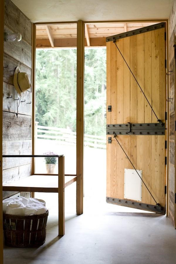 Attractive Wooden Home Design by Shed with amazing door
