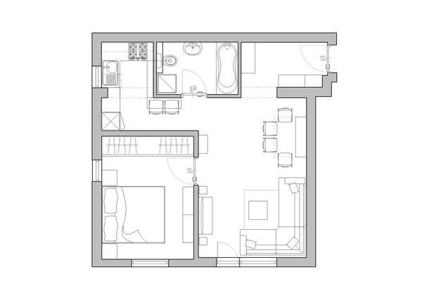 Attractive and Contemporary Apartment Design by Neopolis plan