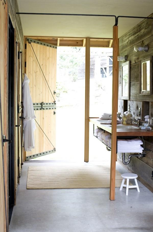 Attractive and Eye catching Wooden Home Design by Shed bathroom
