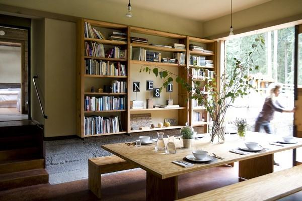 Attractive and Eye catching Wooden Home Design by Shed dinning room