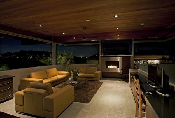 Awesome livingroom Design with Wonderful View in Arizona