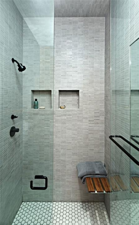 Bathroom from Awesome Space Maximization square feet Small Studio Apartment