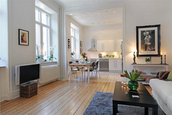 Beautiful and Bright Scandinavian Apartment Design Inspiration