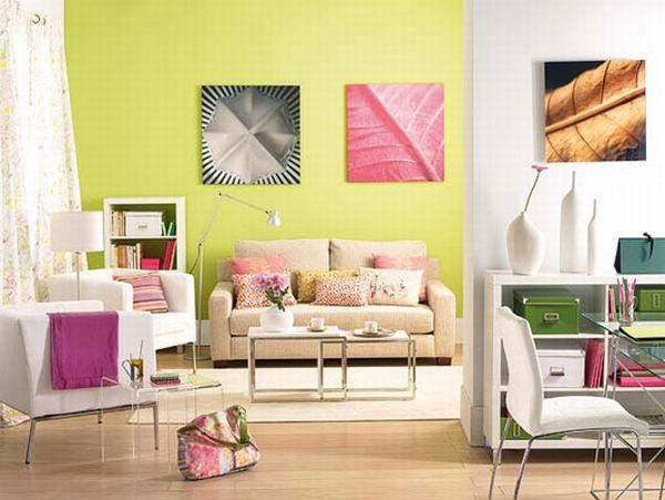 Beautiful and Bright Living Room Design Ideas