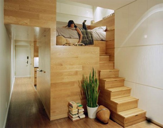 Bedroom at Awesome Space Maximization square feet Small Studio Apartment x