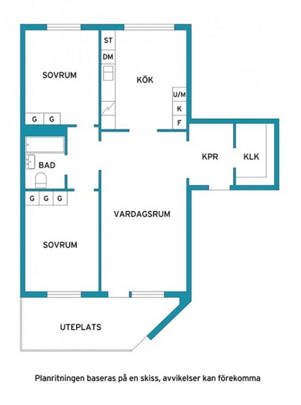 Bright and Creative Sweden Apartment Interior Design siteplan