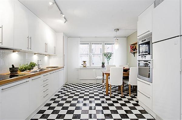 Bright and Creative Sweden Apartment kitchen Design Inspiration