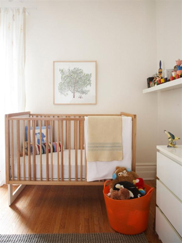 Calm Residence Ideas in Toronto with cute and beautiful nursery design