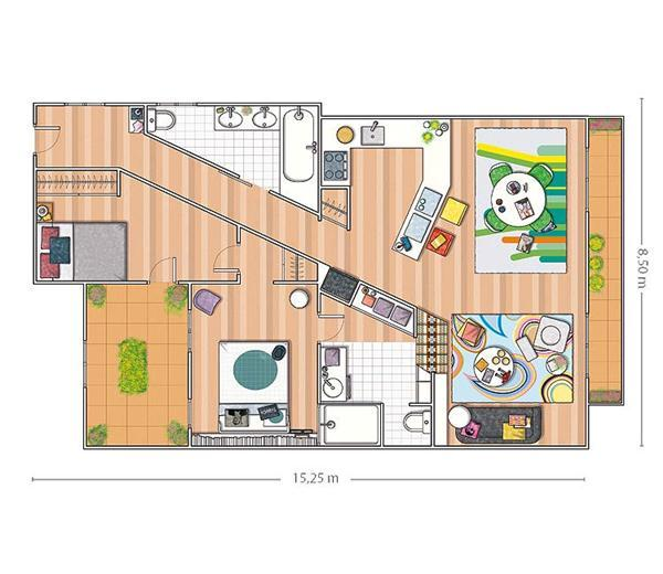 Chic and Artistic Square Meters Apartment Design Inspiration siteplan