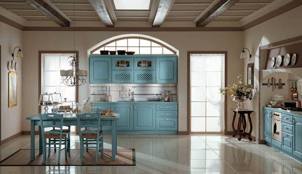Classic and Luxurious Kitchen Design Inspiration blue