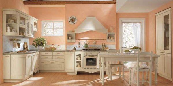 Classic and Luxurious Kitchen Design Inspiration soft orange
