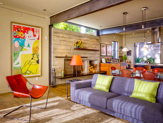 Colorful Contemporary Classical Home Design with Natural Interior Decorating Ideas