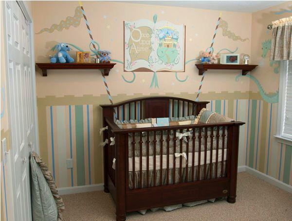 Colorful and Attractive Wall Mural Decorating Ideas at baby room