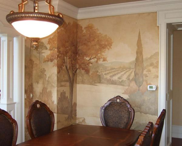 Colorful and unique Wall Mural Decorating Ideas