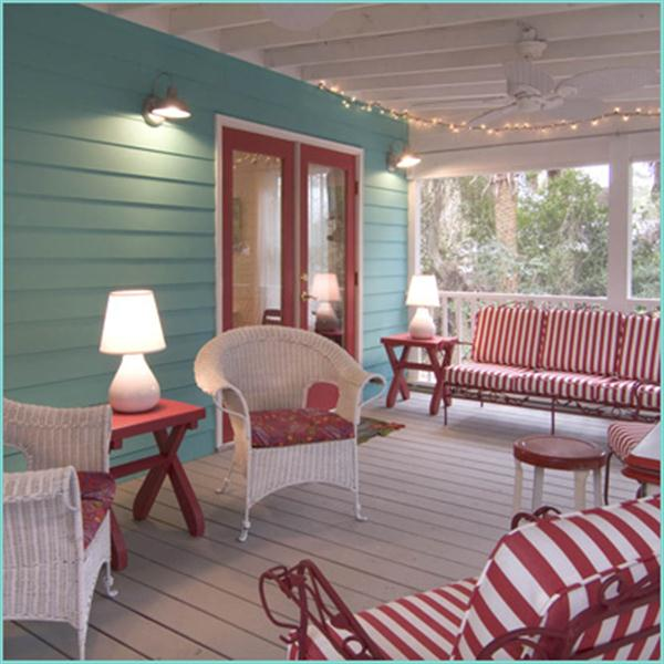 Colorful outdoor space Decoration Ideas with Turquoise themes Aplliance