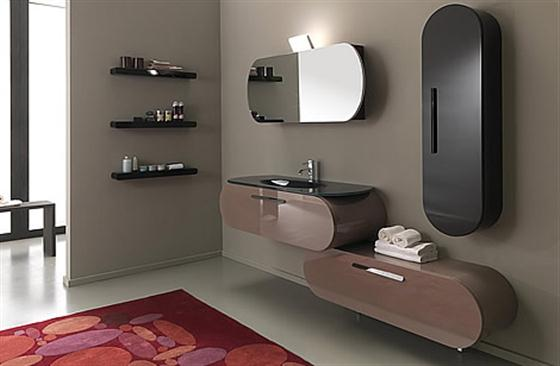 Colorfull and Cute Bathroom Furniture Sets Ideas brown and black