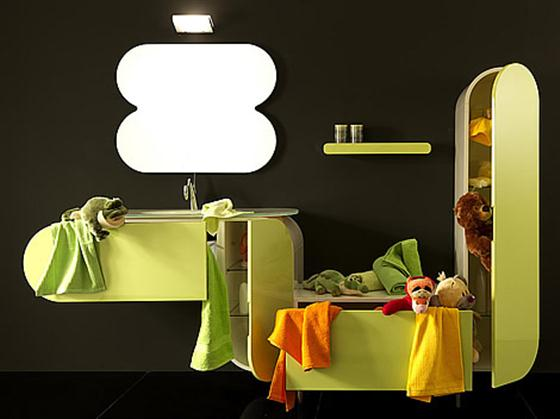 Colorfull and Cute Bathroom Furniture Sets Ideas funny green