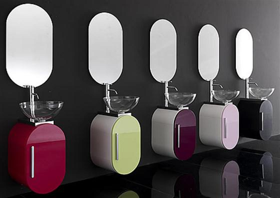 Colorfull and Cute Bathroom Furniture Sets Ideas washbowl color