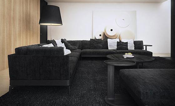 Comfortable Black and White Interior Design