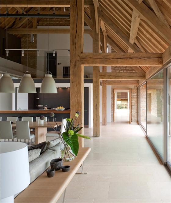 Contemporary Barn House Design Ideas Calm Interior