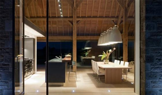 Contemporary Barn House Design Ideas Kitchen and dining room
