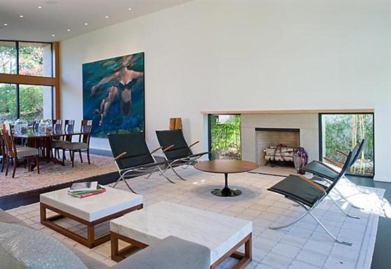 Contemporary Countryside House Designs Ideas Fireplace