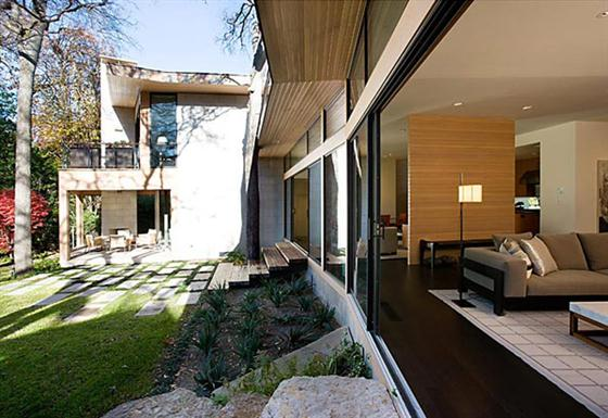 Contemporary Countryside House Designs Ideas Glass wall