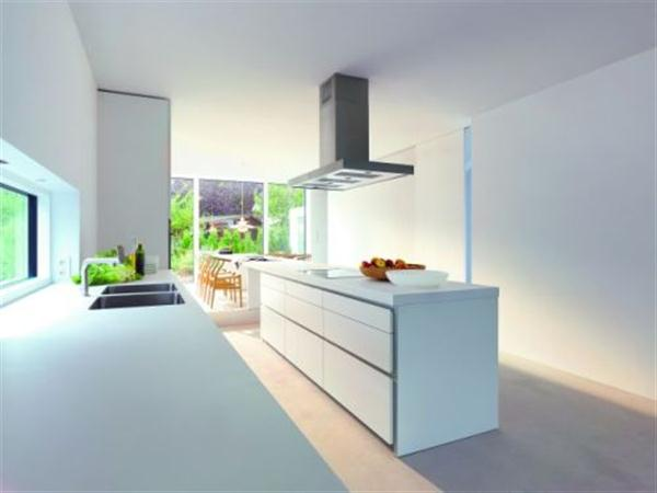 Contemporary White Kitchen Design by Bulthaup
