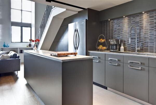 Contemporary and Cozy Grey Kitchen decor