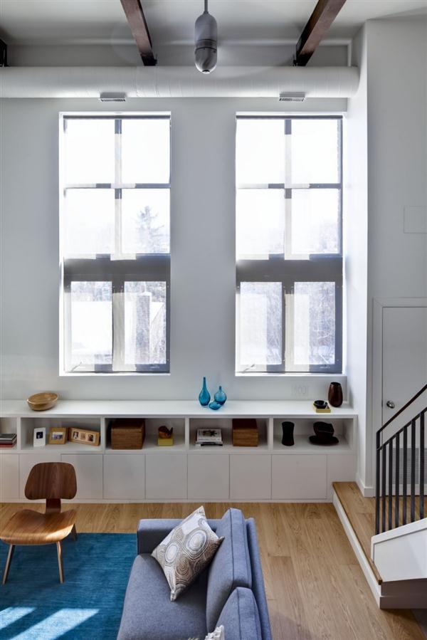 Contemporary and Cozy Home Interior Design with big window