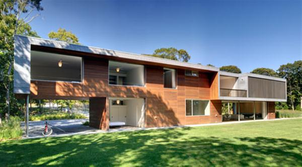Contemporary and Delightful Home Design back view