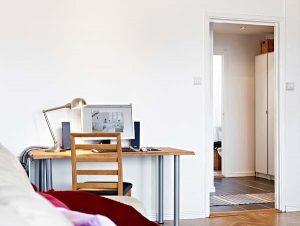 Contemporary and Elegant Apartment Design Inspiration deskjob