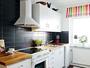 Contemporary and Elegant Apartment Design Inspiration kitchen set