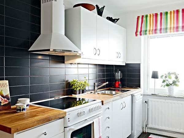 Contemporary and Elegant Apartment Design Inspiration kitchen set